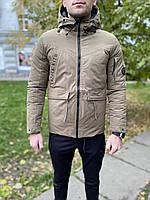 Мужская тёплая зимняя куртка в бежевом цвете 44 46 48 50 52