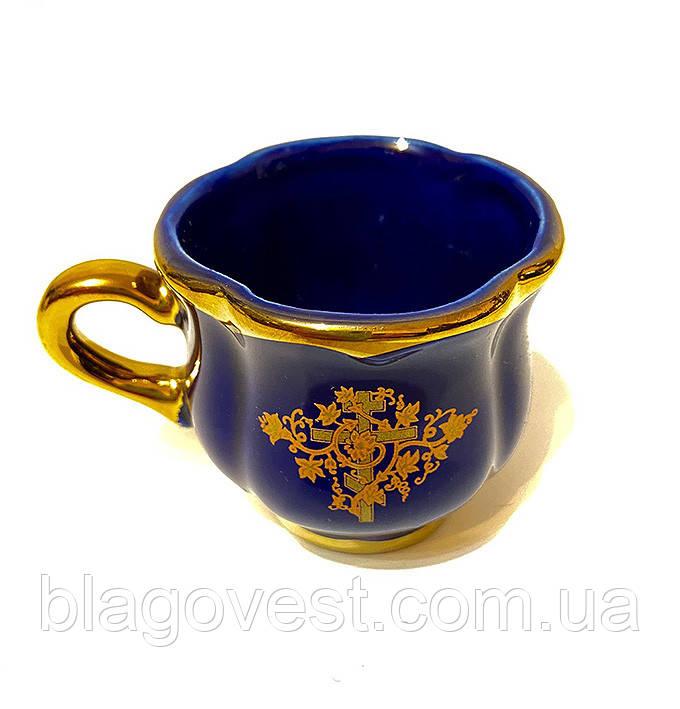 Керамическая чашка малая (окантовка золото)