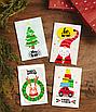 Набор стильных новогодних мини-открыток (4 шт.), фото 2