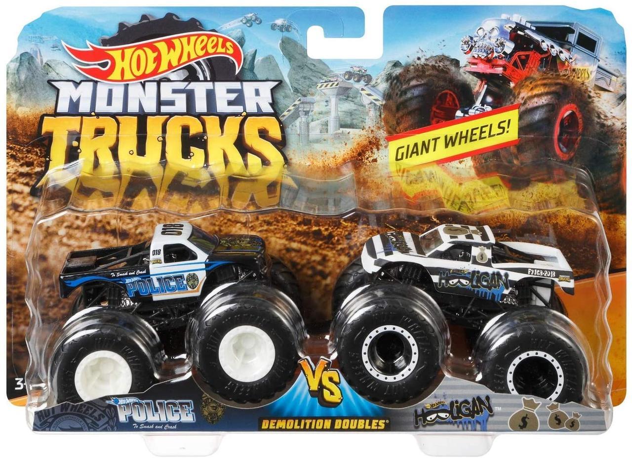 Хот вилс 2 машинки Монстр трак 1:64 Hot Wheels Monster Demo Doubles Trucks 2 Pack