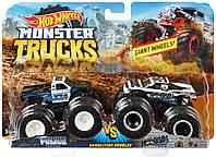 Хот вилс 2 машинки Монстр трак 1:64 Hot Wheels Monster Demo Doubles Trucks 2 Pack, фото 1