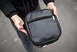 Чоловіча шкіряна PU сумка через плече месенджер Nike розмір XL, фото 2