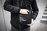 Чоловіча шкіряна PU сумка через плече месенджер Nike розмір XL, фото 8