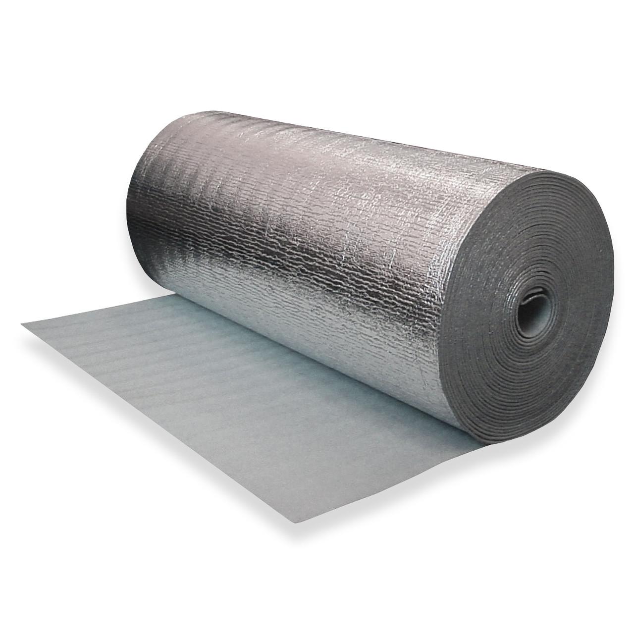 Газовспененный полиэтилен фольгированный самоклеящийся, 10 мм