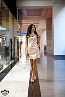 """Женское платье из экокожи """"Ирма"""" (розовый), фото 1"""