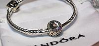Бусина шарм серебро радуга подвеска для браслета Pandora Пандора серебряная
