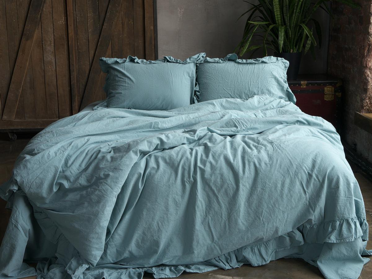 Комплект постільної білизни 160x220 LIMASSO MINERAL BLUE EXCLUSIVE блакитний
