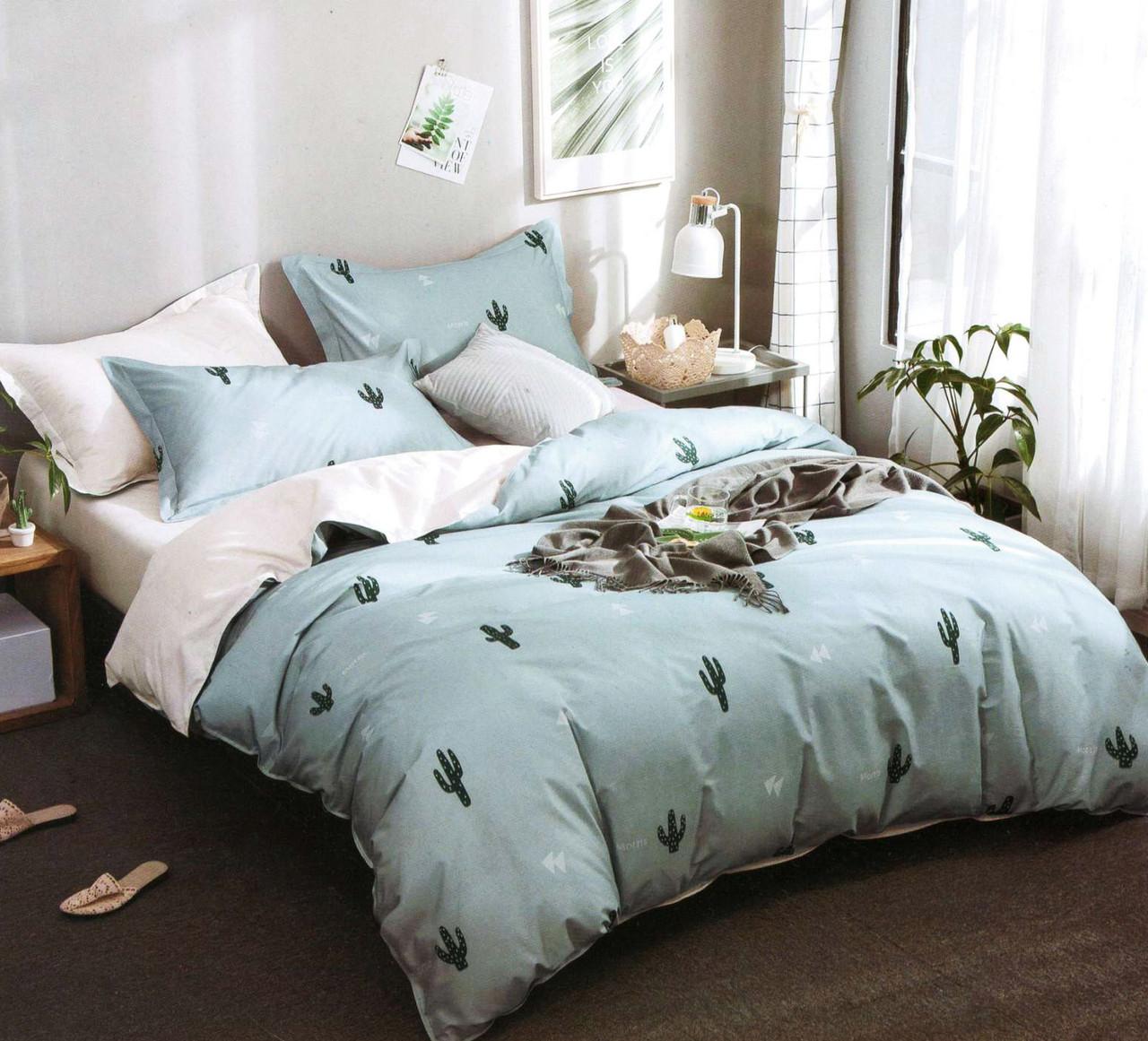 Двуспальный комплект постельного белья евро 200*220 хлопок  (15862) TM KRISPOL Украина