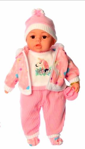Кукла пупс мягконабивная говорящая Mій малюк 4414 I UA , 44 см, соска, стих, песня