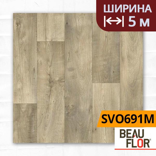Линолеум ПВХ Beauflor Supreme Valley Oak 691M, Ширина - 5 м; 2.9/0,4 - полукоммерческий на подложке