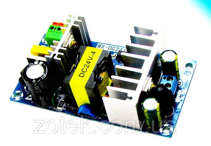 Импульсный источник блок питания 24 Вольт 4-6 Ампер 100 Вт AC-DC 24V 4A-6А 100W
