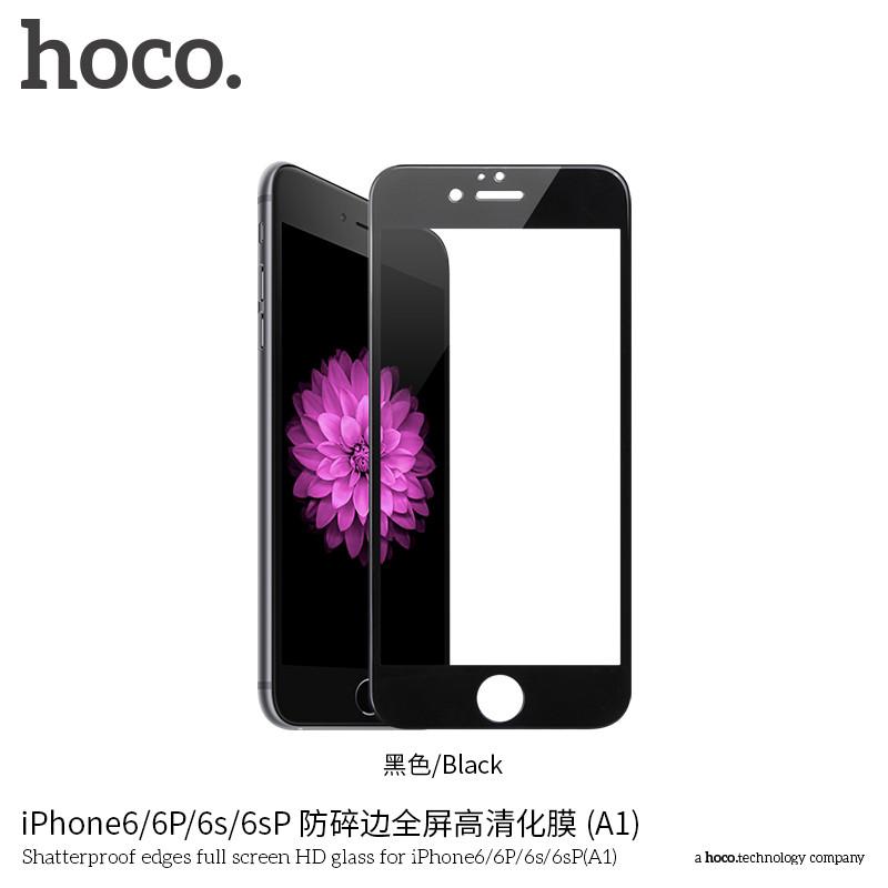 Защитное стекло Hoco Shatterproof edges full screen HD для iPhone 6 Plus/6S Plus Black