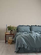 Комплект постільної білизни 200x220 LIMASSO AKDENIZ MAVISI EXCLUSIVE блакитний