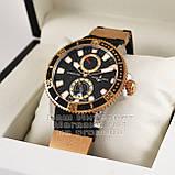 Часы Ulysse Nardin Maxi Marine Diver Chronometer Gold Black реплика механика с автоподзаводом, фото 3