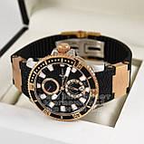 Часы Ulysse Nardin Maxi Marine Diver Chronometer Gold Black реплика механика с автоподзаводом, фото 2
