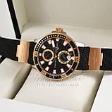 Часы Ulysse Nardin Maxi Marine Diver Chronometer Gold Black реплика механика с автоподзаводом, фото 4