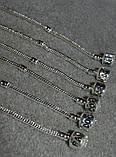 браслет Пандора с серебряным покрытием проба 925 (22 см , фото 3