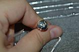 браслет Пандора с серебряным покрытием проба 925 (22 см , фото 4