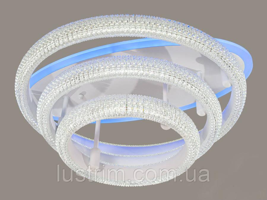 Светодиодная LED люстра с диммером и подсветкой, 90W