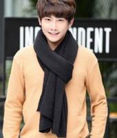 Мужской теплый шарф - Черный, фото 2