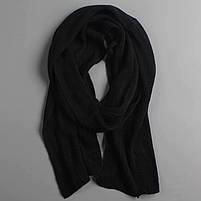 Чоловічий теплий шарф - Чорний, фото 3