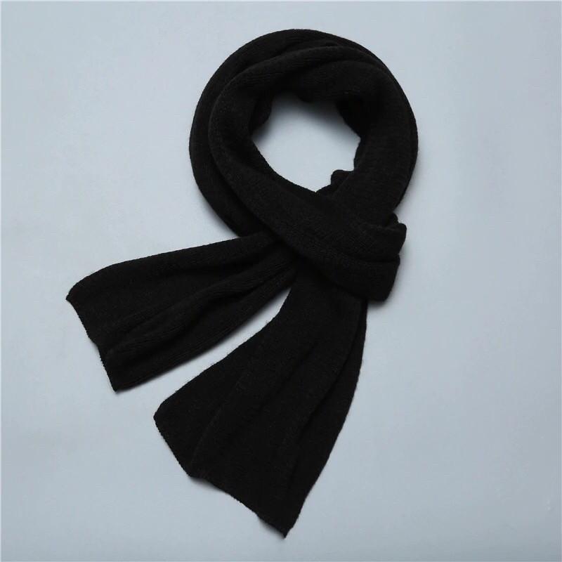 Мужской теплый шарф - Черный