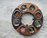 КІТ-ПЕС by smartwood Миски на подставке   Миска-кормушка металлическая для собак щенков  XS - 2 миски, фото 5