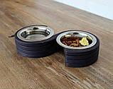 КІТ-ПЕС by smartwood Миски на подставке | Миска-кормушка металлическая для собак щенков  XS - 2 миски, фото 8