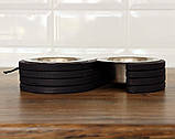 КІТ-ПЕС by smartwood Миски на подставке | Миска-кормушка металлическая для собак щенков  XS - 2 миски, фото 9