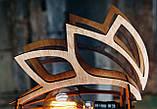 Люстра деревянная СОНЦЕ by smartwood | Люстра лофт | Дизайнерский потолочный светильник, фото 4