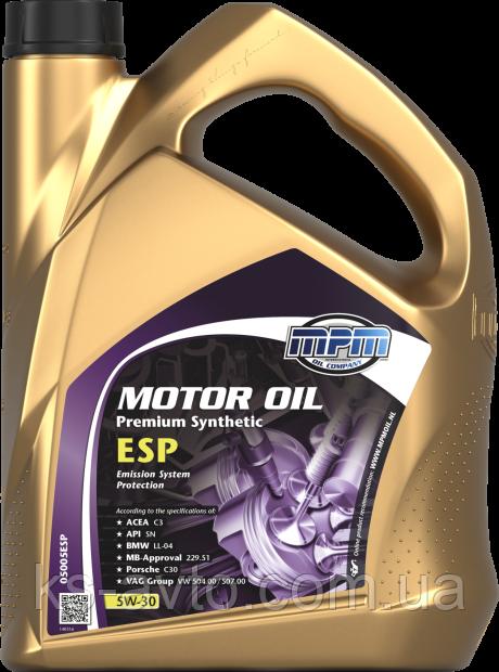 Масло моторное 5W-30 Premium Synthetic ESP MPM
