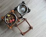 КІТ-ПЕС by smartwood Мискa на подставке | Миска-кормушка металлическая для собак щенков - 1 миска 750 мл, фото 5