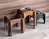 КІТ-ПЕС by smartwood Мискa на подставке | Миска-кормушка металлическая для собак щенков - 1 миска 750 мл, фото 9