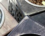 КІТ-ПЕС by smartwood Мискa на подставке | Миска-кормушка металлическая для собак щенков - 1 миска 1700 мл, фото 4