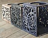 КІТ-ПЕС by smartwood Мискa на подставке | Миска-кормушка металлическая для собак щенков - 1 миска 1700 мл, фото 6
