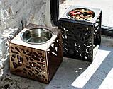 КІТ-ПЕС by smartwood Мискa на подставке | Миска-кормушка металлическая для собак щенков - 1 миска 1700 мл, фото 9