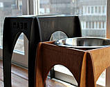 КІТ-ПЕС by smartwood Мискa на подставке | Миска-кормушка металлическая для собак щенков - 1 миска 2800 мл, фото 5