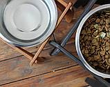 КІТ-ПЕС by smartwood Мискa на подставке | Миска-кормушка металлическая для собак щенков - 1 миска 2800 мл, фото 6