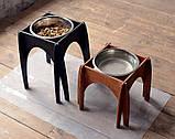 КІТ-ПЕС by smartwood Мискa на подставке | Миска-кормушка металлическая для собак щенков - 1 миска 2800 мл, фото 7