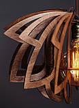 Люстра деревянная СОНЦЕ by smartwood   Люстра лофт   Дизайнерский потолочный светильник, фото 6