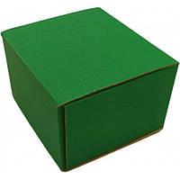 Коробка зеленая самосборная для подарка (090 х 90 х 60)