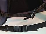 Терморюкзак. Термосумка для суши с перегородками: вертикаль + горизонталь, карманом для терминала. Серая, фото 7