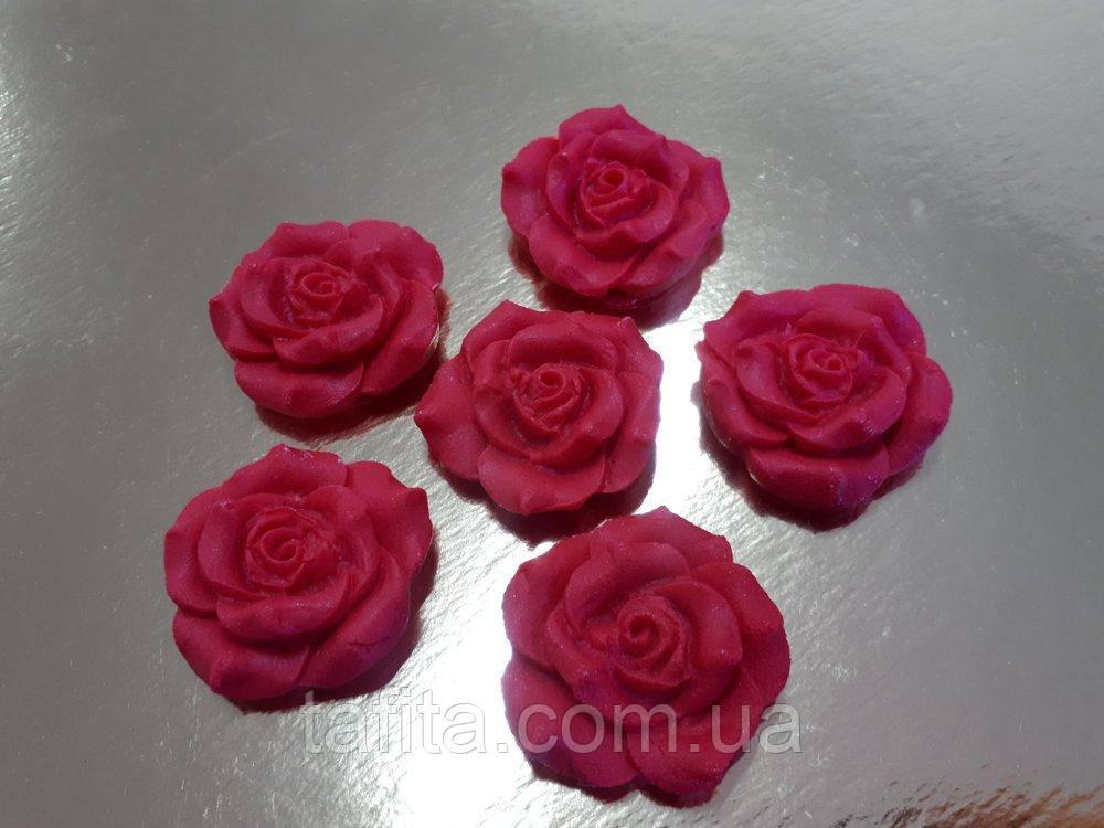 Роза красная 35 мм