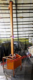Вертикальный шнековый транспортер, погрузчик, шнек, конвейер, диаметр 133 мм., высота выгрузки 3 метра