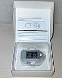 ПУЛЬСОКСИМЕТР электронный датчик пульса кислорода в крови медицинский на палец пульсометр оксометр, фото 2