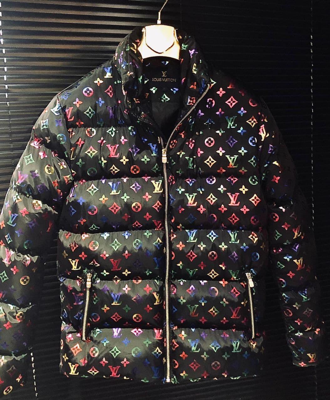 Мужская куртка Louis Vuitton CK1550 черная