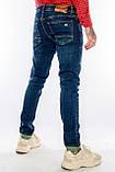 Джинсы мужские Узкие Franco Benussi 21-471 с 36 ростом синие, фото 5
