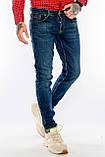 Джинсы мужские Узкие Franco Benussi 21-471 с 36 ростом синие, фото 6