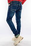 Джинсы мужские Узкие Franco Benussi 21-471 с 36 ростом синие, фото 7
