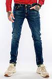 Джинсы мужские Узкие Franco Benussi 21-471 с 36 ростом синие, фото 8